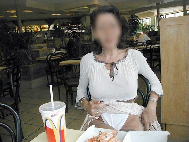 Pic #6 - Monique Flashing by McDonalds