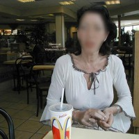 Monique Flashing by McDonalds