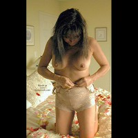 Rose Petals 2 With Lingerie