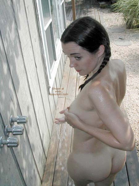 Pic #5 - Nina Showers Outside