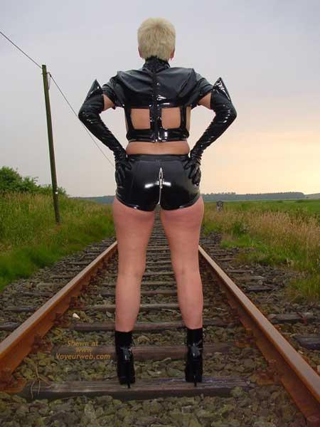Pic #5 - Niceboobs at The Railroad Track!