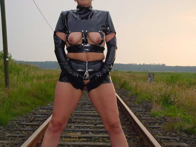 Pic #8 - Niceboobs at The Railroad Track!