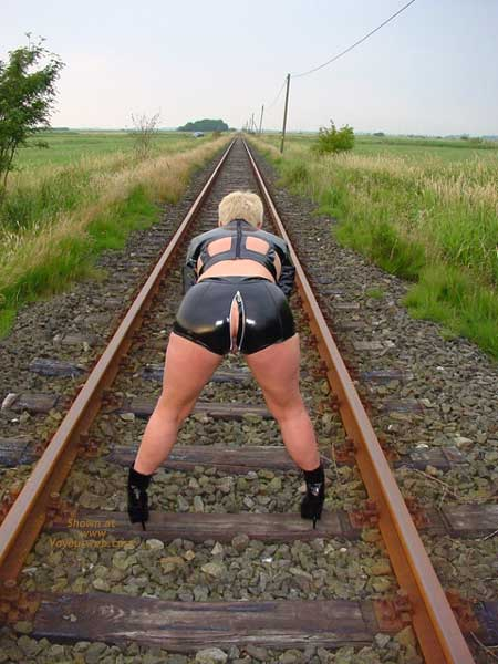 Pic #9 - Niceboobs at The Railroad Track!