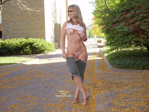 Pic #3 - Natasha Teasing On Campus