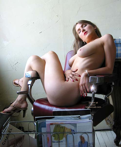 Pic #3 - VW_Laura On a Barber's Chair