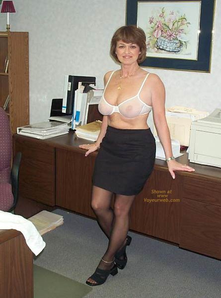 Pic #3 - Claire Strips in The Office!