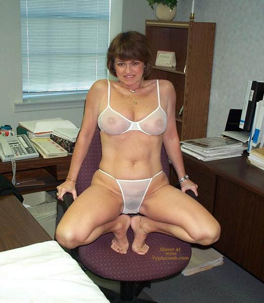 Pic #4 - Claire Strips in The Office!