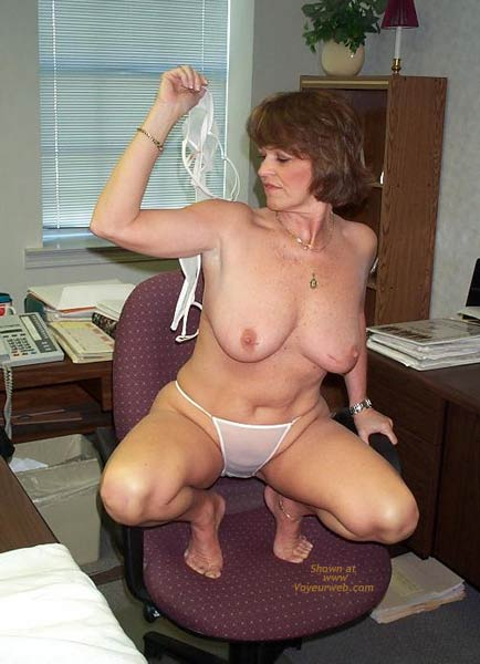 Pic #5 - Claire Strips in The Office!