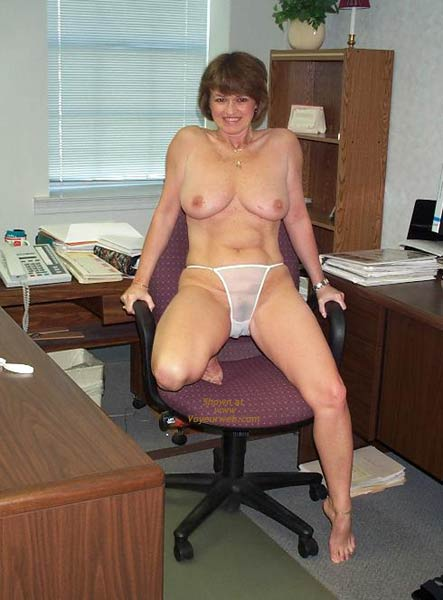 Pic #6 - Claire Strips in The Office!