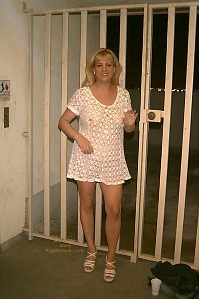 Pic #1 - Electric Pam - White SeeThru Dress