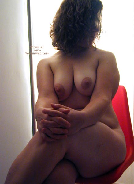Pic #1 - OH Wife Hard Nipples - Round Rear - Shadows - Curves