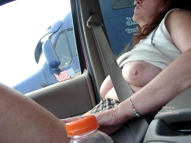 Pic #6 - More of Misti Flashing Truckers