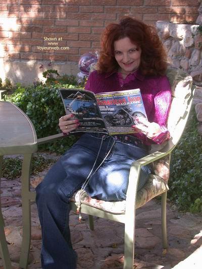 Pic #1 - Buxomgirl In Denim And Satin