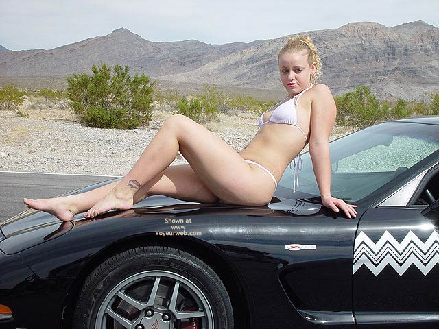 Pic #1 - Bianca Getting Naughty On The Vette