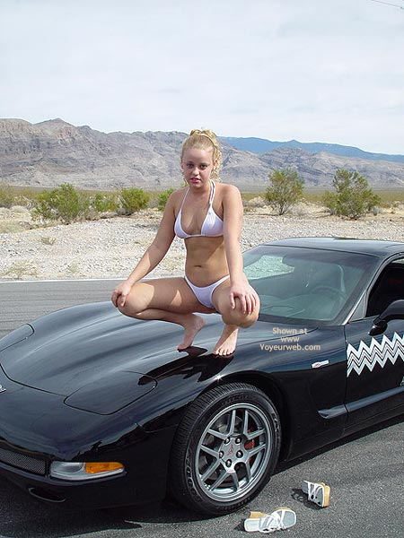 Pic #3 - Bianca Getting Naughty On The Vette