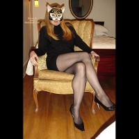 Black Pantyhose Makes Her Hot And Ready 2
