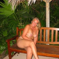 Mermaid Enjoys Tropical Evening