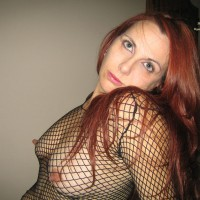 Long Nipples Through Fishnet - Hard Nipple, Long Nipples