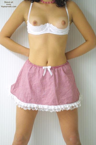 Pic #2 - Wanna Peek Under My Skirt?