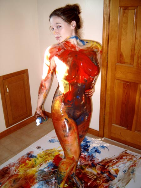 Pic #6 - Jenn, 18yo Fun With Bodypaint!