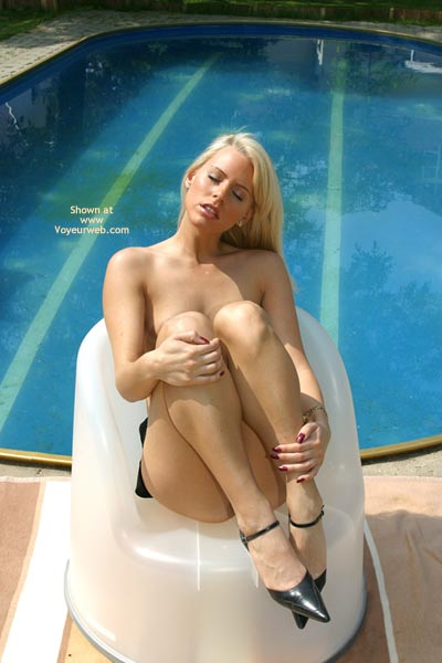 Pic #1 - Eyes Closed - Eyes Closed, Heels , Eyes Closed, Swimming Pool, Black High Heels