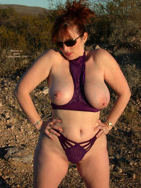 Pic #4 - 2nd Half Of Buxomgirl38e In Purple Lace!