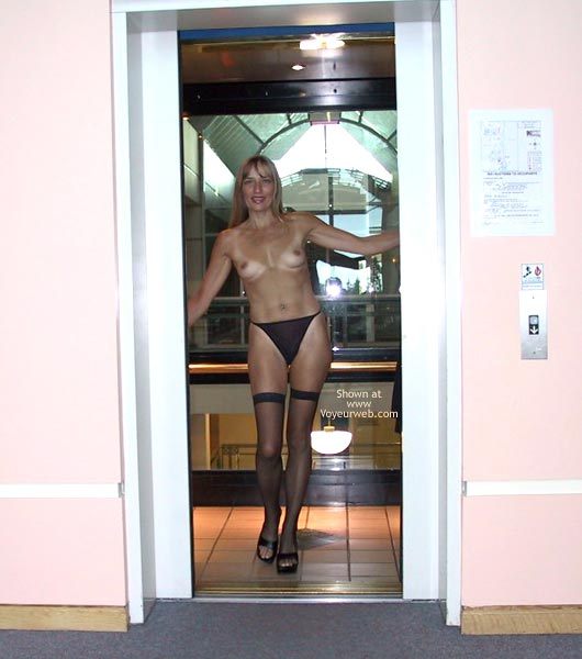Pic #4 - The Beautiful Woman in a Glass Elevator