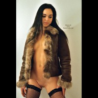 Fishnets And Fur - Shaved Pussy