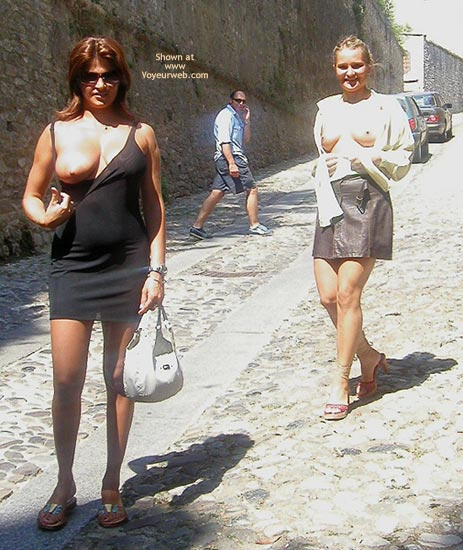 Pic #1 - Vaness Nude In The Medieval Town