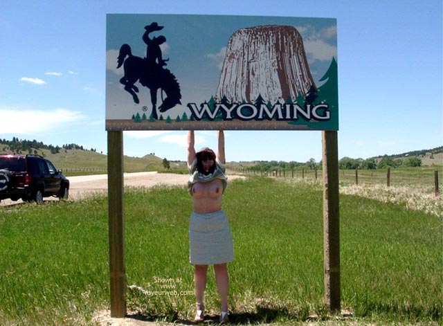 Pic #9 - Misti - Leaving South Dakota Entering Wyoming