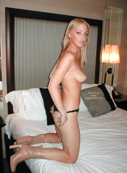 Pic #2 - Tiny G-string and Boots
