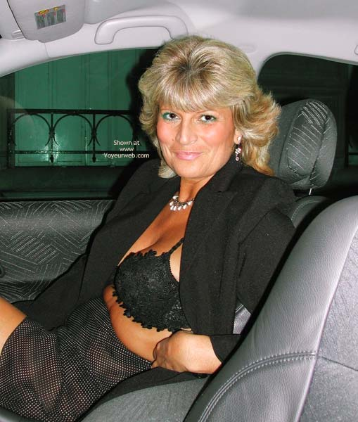 Pic #2 - Fanny Outside in Her Sheer Clothing