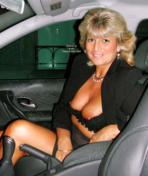 Pic #3 - Fanny Outside in Her Sheer Clothing