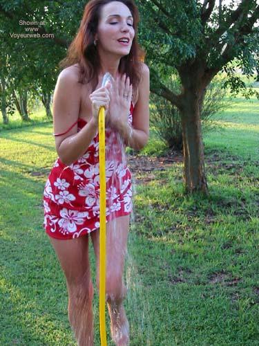 Pic #4 - Celeste Gets Wet!!