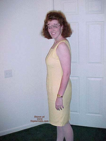 Pic #1 - Redhead Housewife In Yellow Dress 1