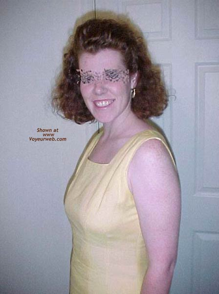 Pic #2 - Redhead Housewife In Yellow Dress 1