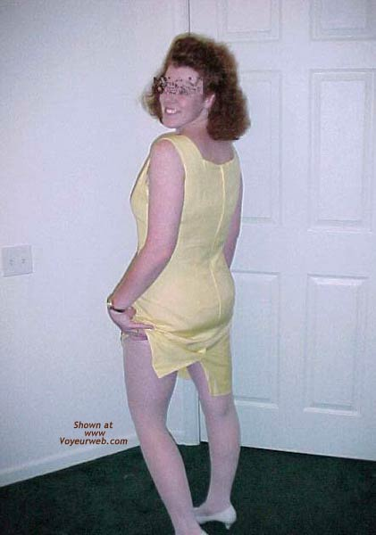 Pic #4 - Redhead Housewife In Yellow Dress 1