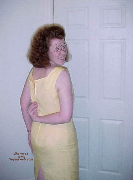 Pic #6 - Redhead Housewife In Yellow Dress 1
