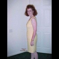 Redhead Housewife In Yellow Dress 1
