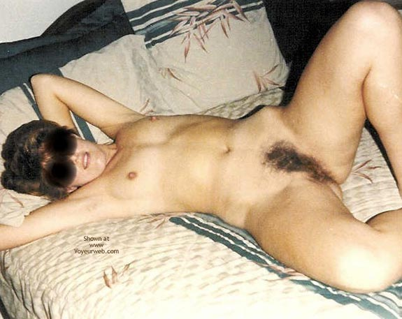 Pic #6 - Flirtatious Wife On The Bed