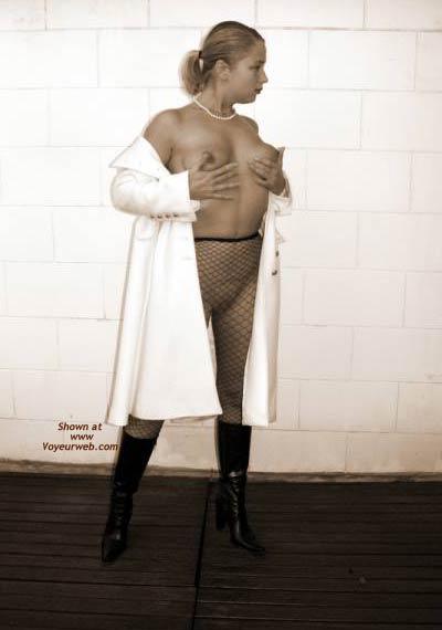 Pic #3 - Gabriela in Fishnet Stockings