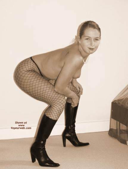 Pic #8 - Gabriela in Fishnet Stockings