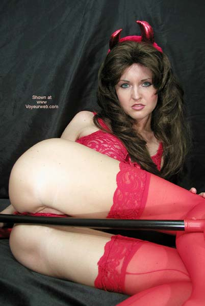 Pic #5 - Little Red Devil Nadine Plays With Pitchfork