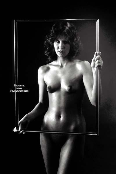 Pic #1 - Black And White - Black And White, Mature , Black And White, Mature, Picture Frame, Pert Nipples, Athletic