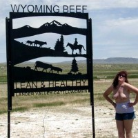 Misti Along The Highway in Wyoming