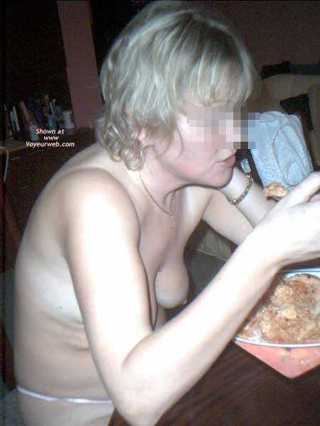 Pic #4 - Wife at Dinner