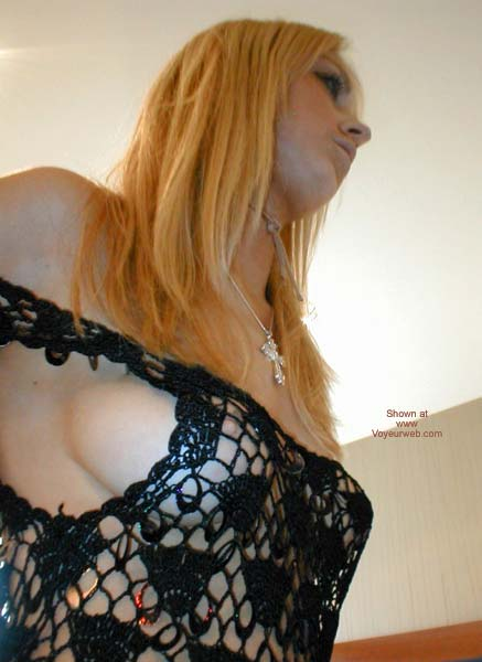 Pic #2 - Sexy Young Slut in See Thru Dress