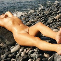 Nude Girl On Beach - Nude Outdoors, Beach Voyeur