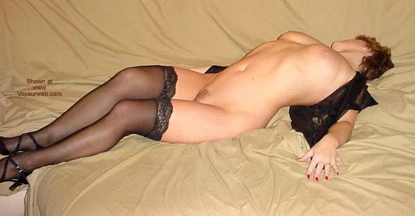 Pic #8 - Denice in Black Stockings
