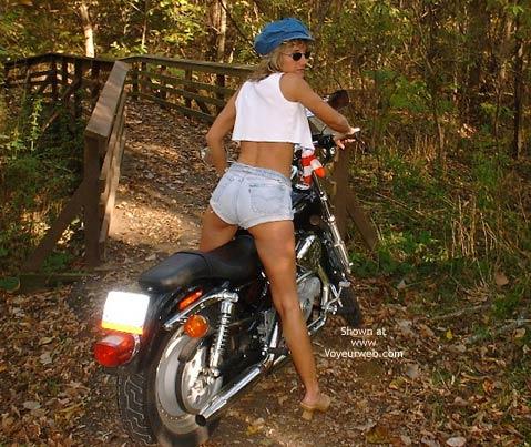 Pic #3 - Chloe On Harley Davidson